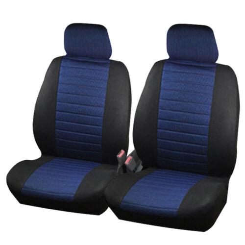 2er Sitzbezüge Auto Schonbezüge für VAN ohne Seitenairbag Schwarz//Blau 7232