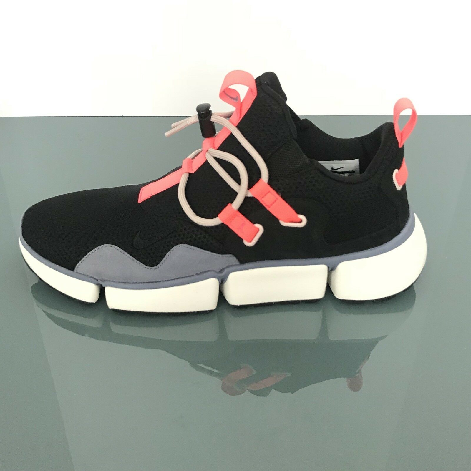 Nike NikeLab Pocketknife DM Black Hot Punch Dark Sky blueee 910571 001 Men Sz 11.5
