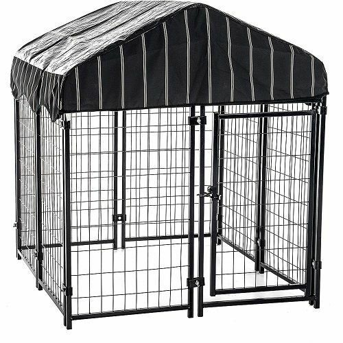 Dog Crates And Kennels Outdoor Pet Backyard Shelter House Steel Cage Cover Shade