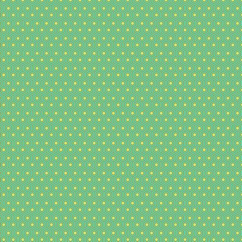 Tula Pink Slow And Steady Tortoise Shell Strawberry Kiwi Fabric 1//2 Yd