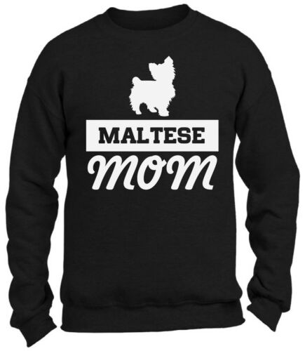 Maltese Dog Mom Crewneck Sweatshirts Pet Lover Gift