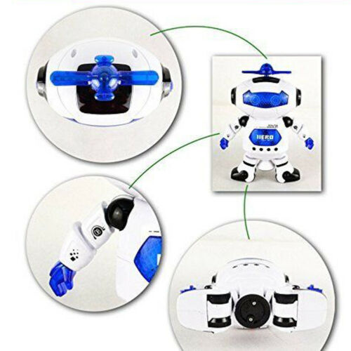 Space Dancing Robot Toy With Music Light Electronics for Boy Kid Christmas Gifts