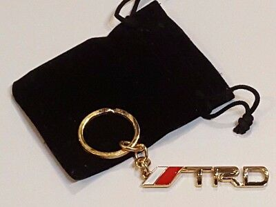 Branded Automotive Merchandise Temperate Trd 24ct Gold Plated Keyring Toyota Supra Celica Gt4 Mr2 Gt86 Starlet Yaris 24k Keyrings & Keyfobs