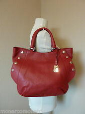 NWT FURLA Cherry Red Leather  Medium Royal Tote/Satchel Bag $398