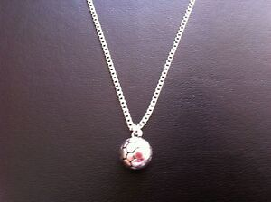 SILVER-FOOTBALL-CHARM-NECKLACE-PENDANT-16-034-18-034-20-034-CHAIN-FREE-GIFT-BAG-UK