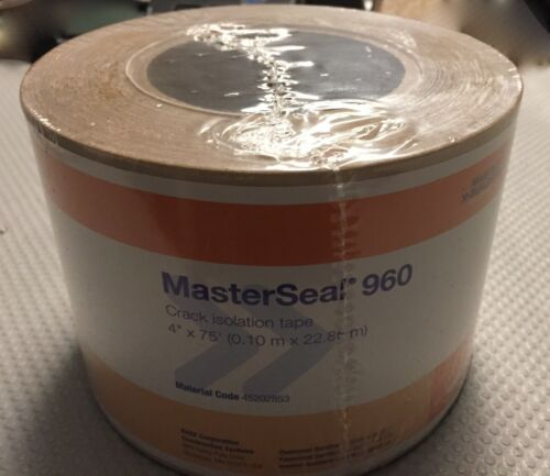 """MasterSeal 960 Crack isolation tape 75 foot roll 4/"""" wide."""