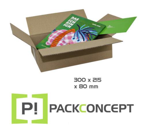 Faltkarton 1-wellig 300 x 215 x 80 mm; Karton; Pappkarton; Versandkarton #7