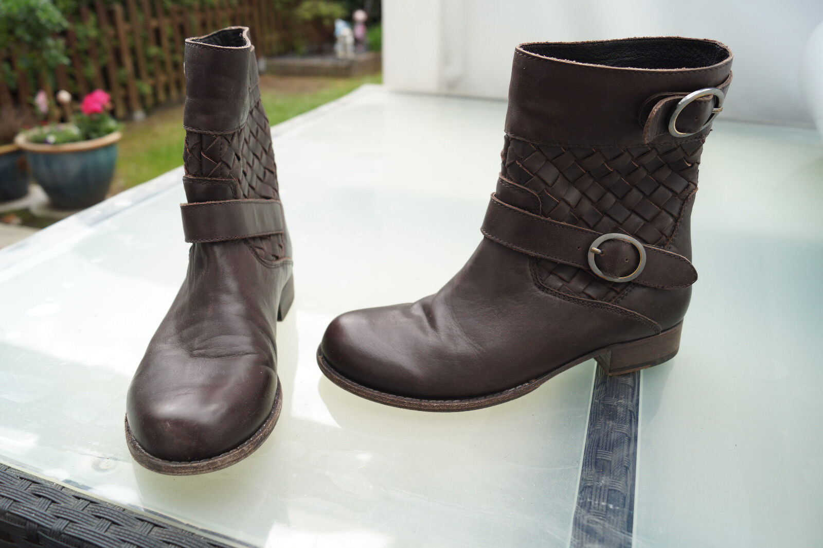 Liebeskind Femmes Chaussures Boots Bottes Bottines Taille 37 Marron Doux Doux Doux Cuir Top 4267f0
