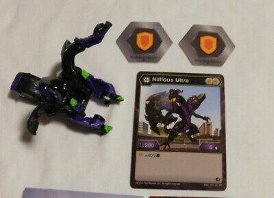 BAKUGAN Battle Brawlers Planet B200 Red NILLIOUS ULTRA 2 Bakucores /& CARD