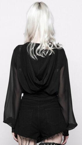 Fashion Veste Résille Capuche Bouffant Zippé Voile Gothique Punkrave Punk Hoodie pPZqPX6