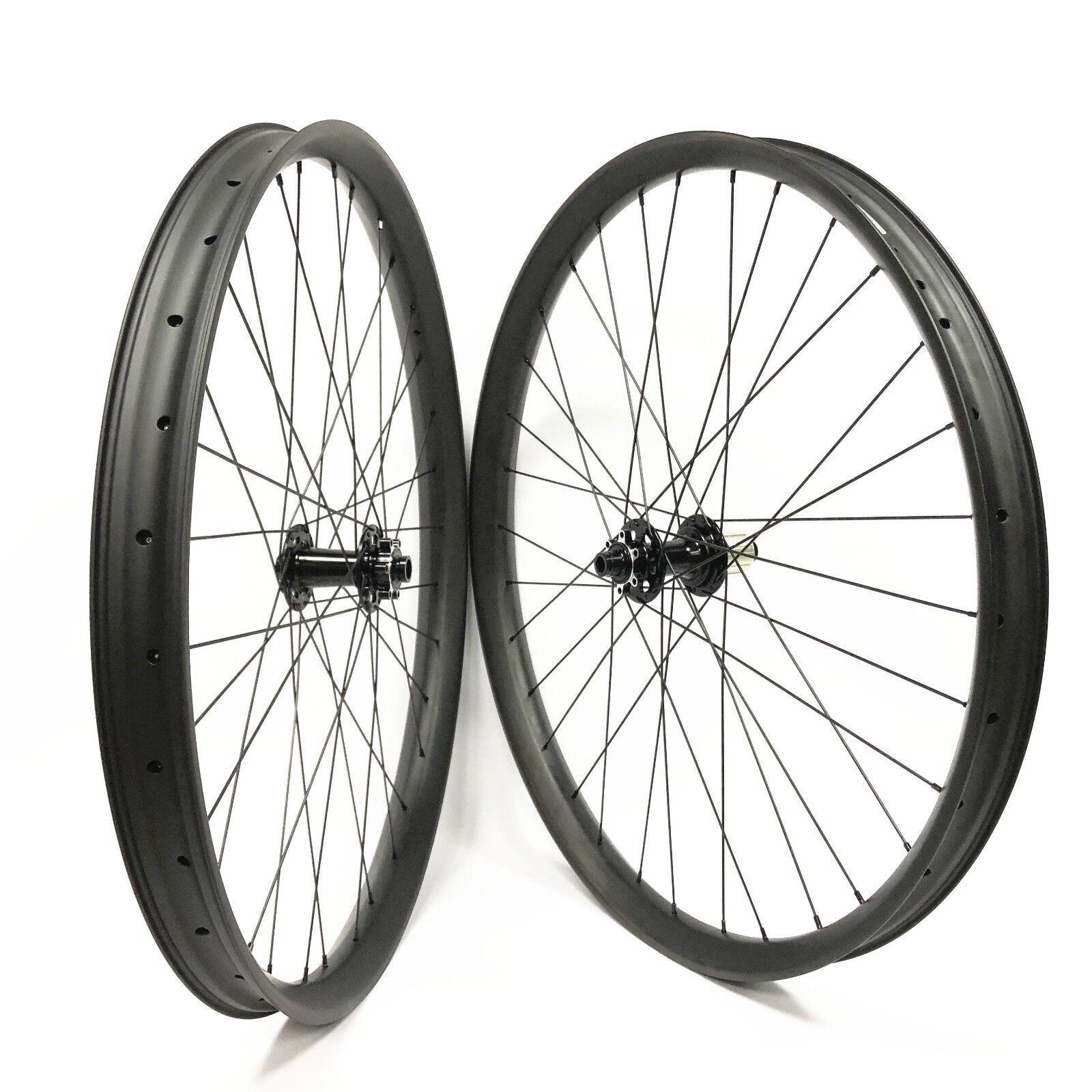 29er Mountain Bike Carbon Wheelset 50mm Width 25mm Depth with boost hub 110 148