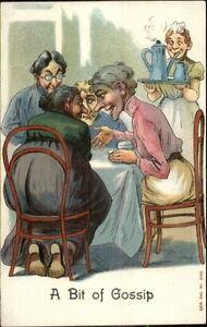 Old-Women-Around-Table-Have-Tea-Talk-amp-Gossip-c1910-Postcard-rpx