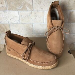 2dc4c4ae428 Details about UGG Woodlyn Chestnut Leather Moc Moccasin Ankle Booots Shoes  Size 8.5 Womens