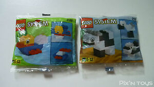 LEGO SYSTEM / 2130-1 Duck - 2132-1 Cow / 1996  [New Sealed]