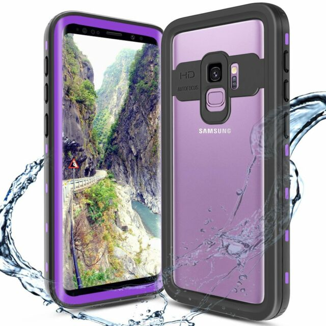size 40 d0084 de54f for Samsung Galaxy S9 Case Waterproof Screen Protector Rugged Hard Cover  Purple