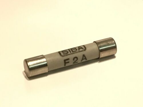 "SIBA F2A  2A FAST BLOW BEST MILITARY QUALITY CERAMIC FUSE 1.25/"" 32mm     fbb22*2"