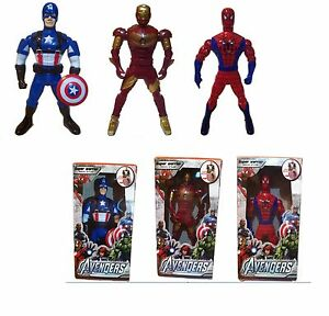 Marvel Avengers Iron Man, Captain America and Spider Man Combination - 3 Figures