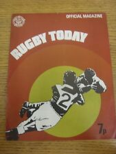 1971/1972 Rugby League: Rugby Today - Official Magazine. Thanks for viewing this