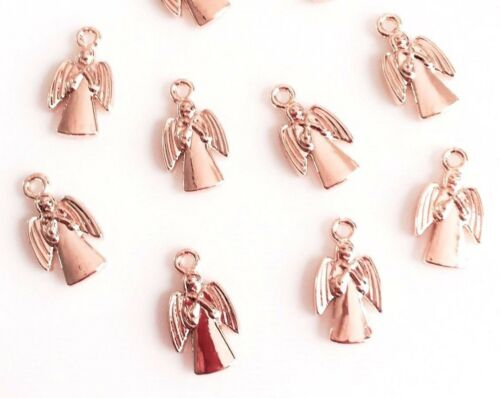 Designer Quality Non Fading Champagne Gold /& Rose Gold Pendant Charms lady-muck1