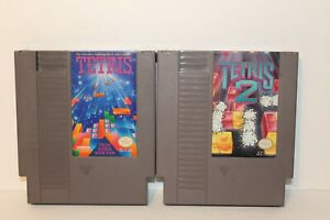 Tetris-1-amp-Tetris-2-NES-Nintendo-Games-TESTED-WORKING-AUTHENTIC