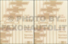 1987 Chevrolet Truck Shop Manual Pickup Scottsdale Silverado Repair Service Book