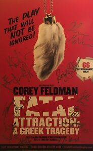 Details about Corey Feldman + Cast Signed FATAL ATTRACTION Off Broadway  Poster Windowcard RARE