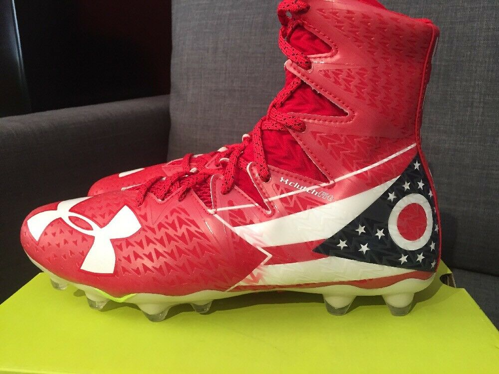 Under Armour Highlight MC LE Ohio Football Cleats rosso rosso rosso bianca 1275479-611 Size 10 f3549e