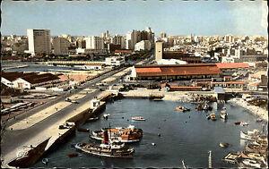 Casablanca-Marokko-Afrika-Africa-1950-60-Hafen-und-Boulevard-Mohamed-El-Hansali