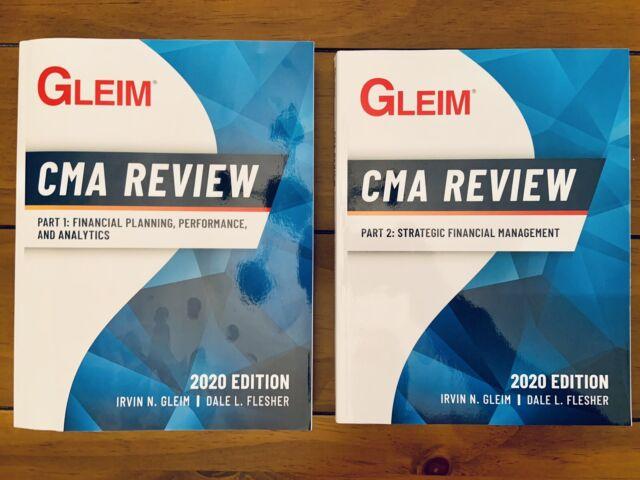 Gleim 2020 CMA Review Textbooks, Part 1 & Part 2, Brand New Genuine