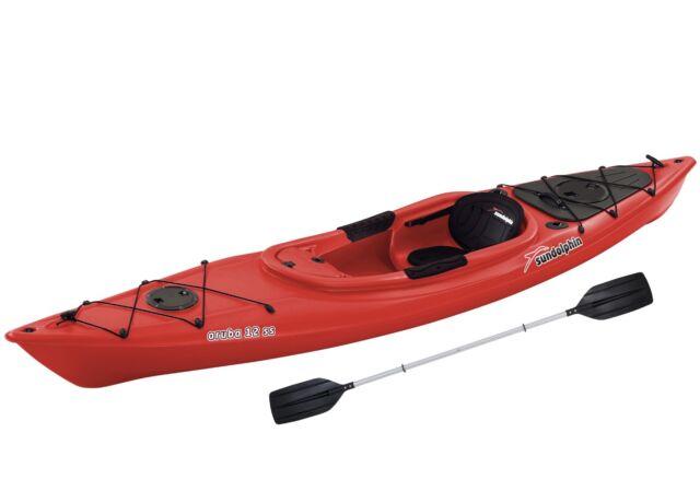 Sit In Kayak 12 Foot Fishing Kayaking Paddle 1 Person Single 395lb Capacity