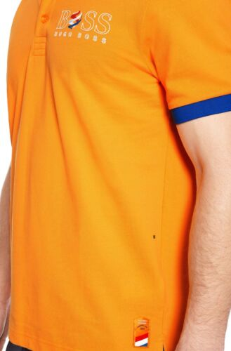 NWT HUGO BOSS Mens Logo USA Brazil Netherland Paddy Flag Polo Shirt ML MSRP $145