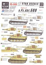Star Decals 1/35 TIGER TANKS OF s.Pz.Abt. 509 German Tiger I Tank Part 1
