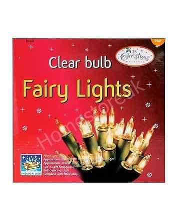20 CLEAR FAIRY LIGHTS CHRISTMAS XMAS PARTY DECORATION TREE BULBS FESTIVE 75750