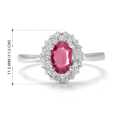 natural ruby on 925 silver sterling earrings and ring size 5 long 2 cm