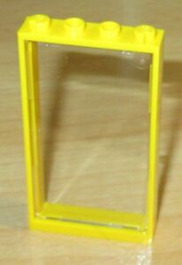 Lego City - 1x Fenêtre avec verre vitre 1x4x6-En Jaune-Transparent  </span>