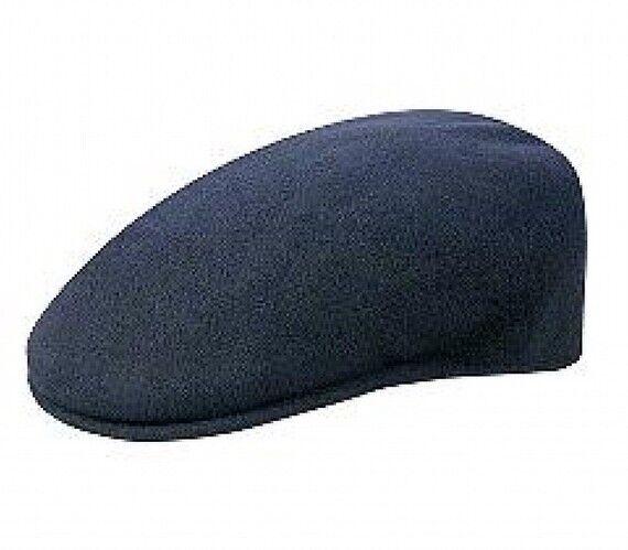 adfd039e7454b ORG Kangol 504 Dark Blue Classic Flat Cap Baseball Cap 100 Wool XL for sale  online