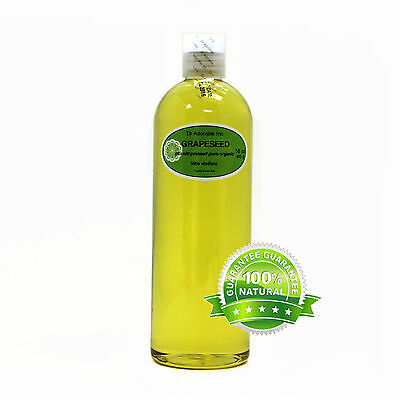 GRAPESEED OIL 100% PURE ORGANIC NATURAL COLD PRESSED BY DR.ADORABLE 16 OZ/1 PINT