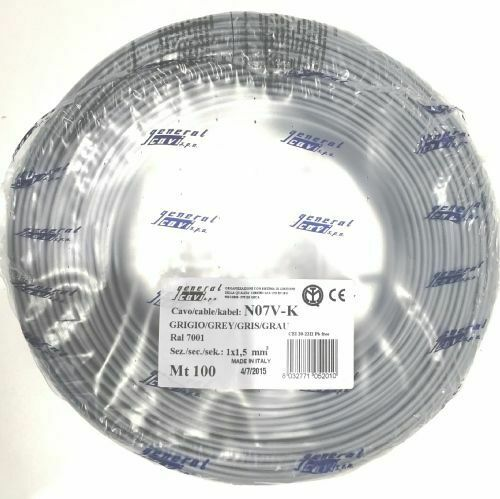 cavo elettrico n07v-k 100 mt grigio 1x1,5 mmq bobina da 100mt