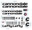 Cannondale-la-cut-Decals-pegatinas-bicicleta-grafico-stickers-adesivi-626 miniatura 1
