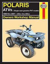 Repair Manual Polaris ATV 250cc-800cc for 1998 thur 2007 Haynes 2508