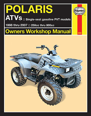 Repair Manual Polaris ATV 250cc-800cc for 1998 thur 2007 Haynes 2508