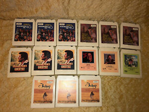Lot of 15 8-track tapes ELVIS PRESLEY  KENNY ROGERS CHARLIE PRIDE ROY CLARK