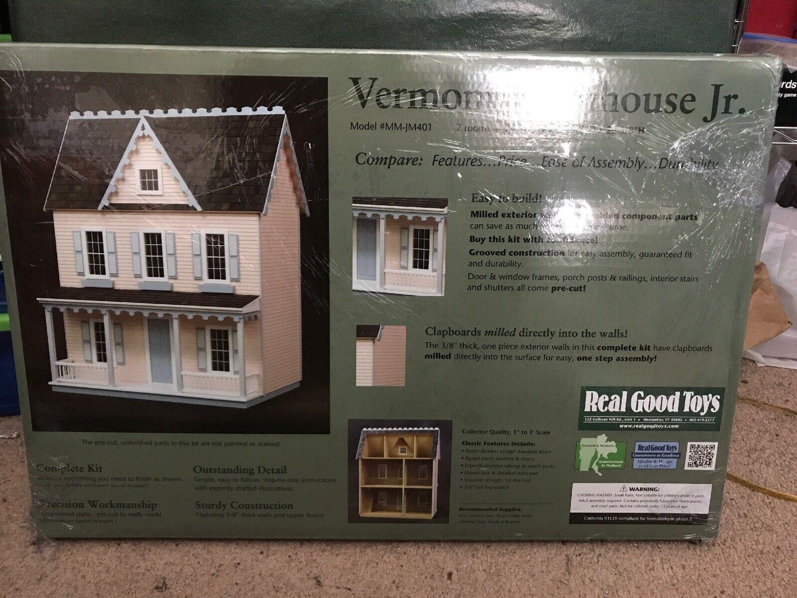 Vermont Granja Jr. casa De Muñecas, Modelo  MM-JM401 por Real Good Toys, Nuevo En Caja