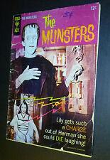 Comic book Gold Key TV THE MUNSTERS #2~Fred Gwynne~Yvonne De Carlo~Butch Patrick