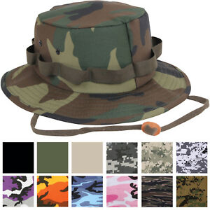 5e8f8a066c58f Jungle Hat Camo Bucket Boonie Bush Fishing Wide Brim Military Army ...