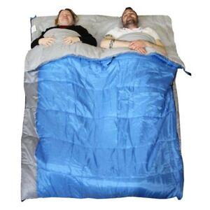 Sleeping-Bag-Double-XL-Warm-400-3-4-Season-CONVERTS-to-2-Singles-Redstone