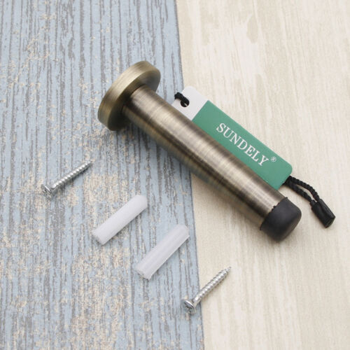 Solid Stainless Steel Wall Mounted Door Stop 90mm Projection