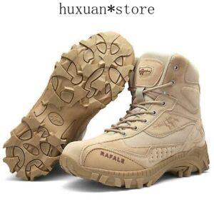 Outdoor Desert Army Boot Shoes Men High