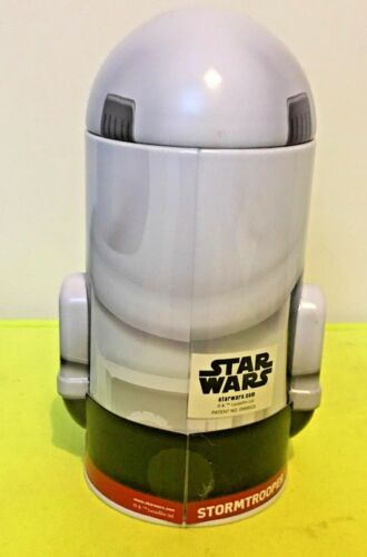 """Star Wars Stormtrooper Standing Tin Figural 7/"""" Coin Bank"""
