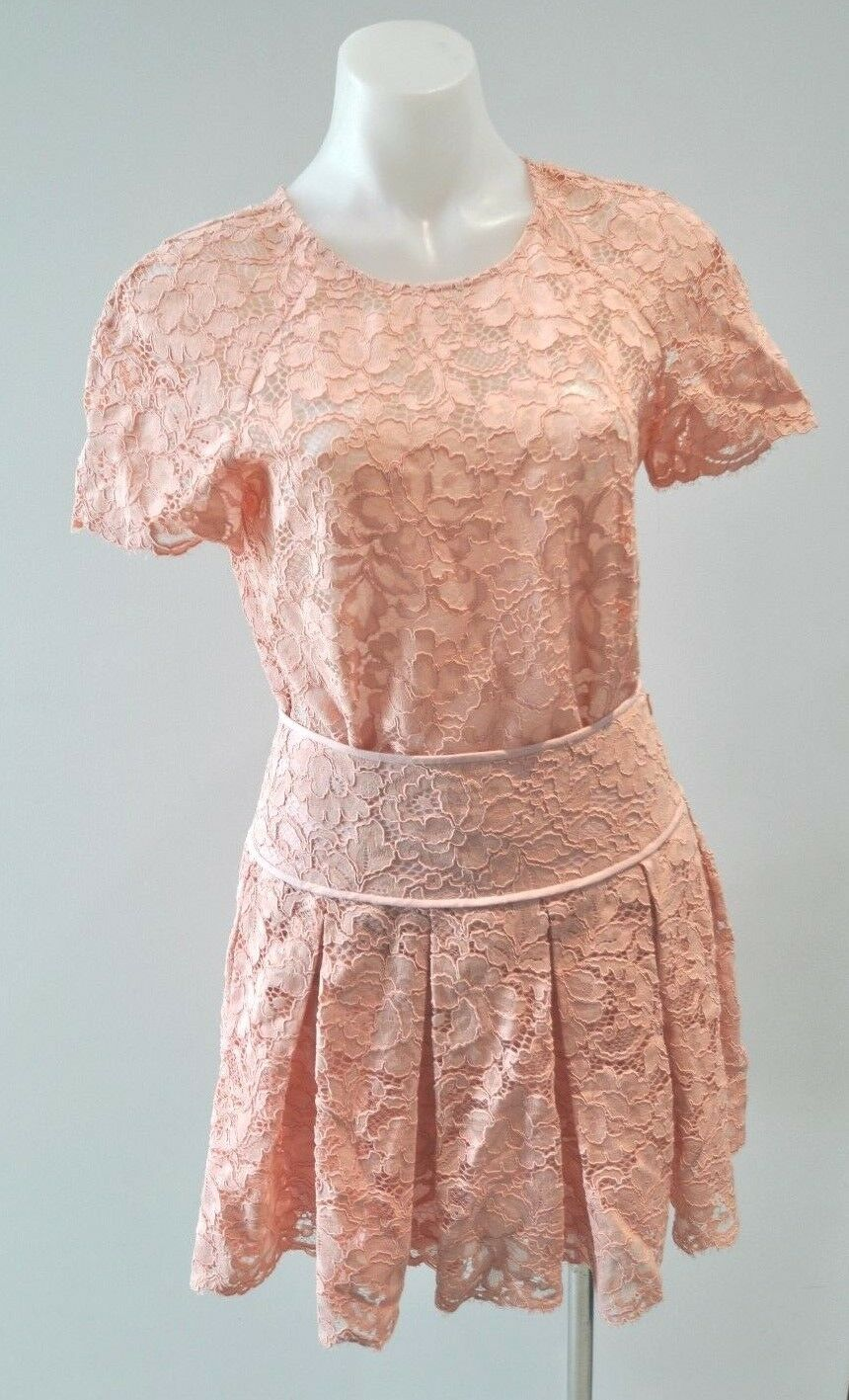 DKNY pink lace top and skirt - size AU 8-10,  499 NEW